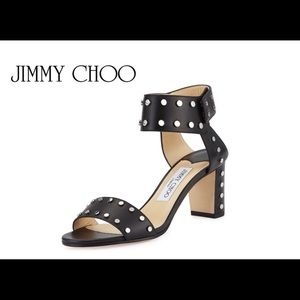 JIMMY CHOO -Veto 65 studded leather sandals